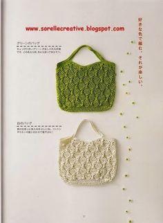 borsa verde uncinetto | Hobby lavori femminili - ricamo - uncinetto - maglia