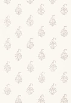 Wallcovering / Wallpaper | Kerala Paisley in Oyster | Schumacher