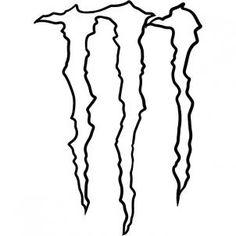 how to draw monster energy logo, monster logo step 5