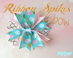 How to make a Stacked Ribbon Spikes Hair-Bow