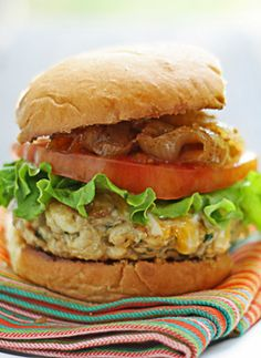 Open-Face Chicken Burgers With Basil Mayonnaise Recipe ...