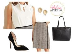 Bow tie blouses are fashionable around the office this fall, but the latest and greatest are Tie-Neck blouses. Take a Look at these Chic Tie-Neck blouses, and how to wear them to look wow at work. Business Chic, Business Fashion, Fall Fashion Trends, Autumn Fashion, Orange Pencil Skirts, Bow Tie Blouse, Black Dress Pants, Work Looks, Look Chic