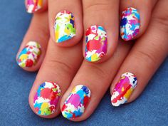 One more idea for the Color Run nails!