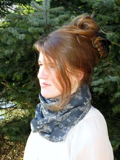 Silk Infinity Scarf with Rolled Edges OR Frayed Edges