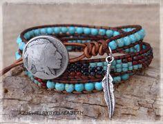 Native American Wrap Bracelet Boho by AZJEWELRYBYELIZABETH on Etsy