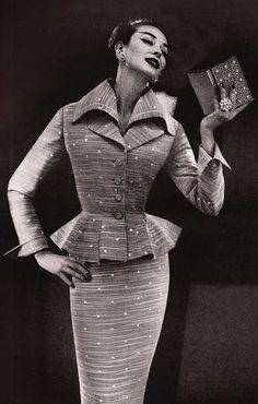 Dorian Leigh in Lilli Ann, 1950s