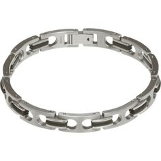 A super stylish and super strong Titanium link and contrasting black PU link bracelet, ideal for men, day or night. Link Bracelets, Bracelets For Men, Titanium Jewelry, Cambridge, Cufflinks, Watches, Silver, Gifts, Black