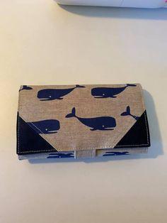Compagnon Complice imprimé baleines cousu par Adeline - Patron Sacôtin