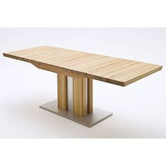 Bergamo Extendable Solid Oak Dining TableColumnar table solid oak in core beech Features:•Bergamo Extendable Solid Oak Dining Table•edge of table is doubled 50 mm•Table Base is ...