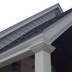 Attempt to use same moulding Details On dormer as On portico roof