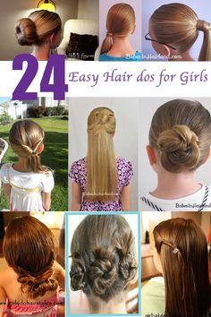 24 Easy Hair dos for girls