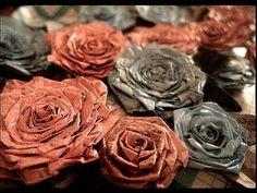 Make News Paper Rose..Recycling Crafts
