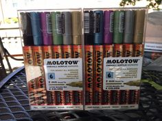 Molotow ONE4ALL Acrylic Markers 2mm 127HS Metallic 6 Markers/Set! TWO Sets! in Crafts, Art Supplies, Drawing & Lettering Supplies | eBay