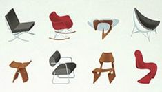 Comprehensive summary of the history, design and usage of modern classic chairs with images prices and info on where to get them. One of the most elaborative articles on mid century modern designs. Modern Minimalist, Modern Classic, Mid-century Modern, Minimalist Interior, Modern Wall Sconces, Small Apartments, Studio Apartments, Staircase Design, Red Accents