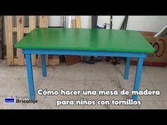 Cómo hacer una mesa de madera para niños con tornillos