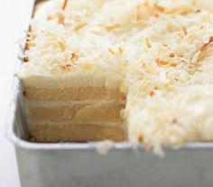 Toasted-Coconut Refrigerator Cake (made with store bought pound cake) Easy!