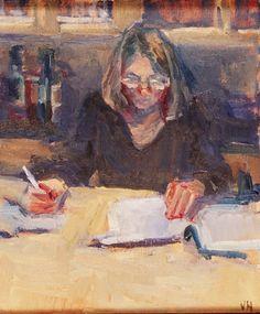 Los cuadernos de Vogli: Valerie Hardy. Woman writing«Mi madre explica much...