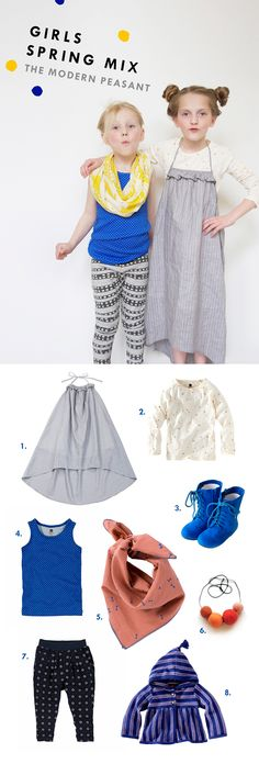 Girls Spring Mix: The Modern Peasant #kidsstyle #fashion