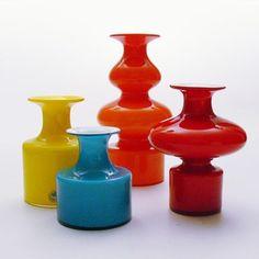 scandinavian glass | Scandinavian art glass. Per Lütken Holmegaard, Denmark | Colorful