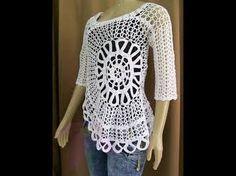 Blusa Croche sem mangas Ana Maria Braga Parte 4 crochet blouse blusa del ganchillo - YouTube