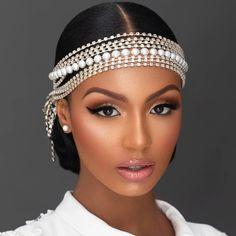 Black Bridal Makeup, Best Wedding Makeup, Black Girl Makeup, Wedding Makeup Looks, Bridal Hair And Makeup, Bride Makeup, Girls Makeup, Hair Makeup, Black Wedding Hairstyles