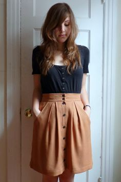 Four square walls: Megan Nielsen Kelly skirt Moda Outfits, Cute Outfits, Looks Style, Style Me, Diy Fashion, Fashion Outfits, Dress Fashion, Cooler Style, Sewing Clothes