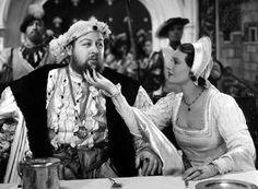 Charles Laughton, In the film The Private Life of King Henry VIII Laughton starred as King Henry along side his wife, who played Anne of Cleves. For this role he won an Oscar for Best Actor, and The Private Life of Henry VIII won Best Picture. Anne Of Cleves, Anne Boleyn, Classic Actresses, British Actresses, Enrique Viii, Katherine Howard, Actor Secundario, King Henry Viii, Tudor History