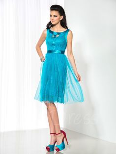 Tbdress.com offers high quality Bateau Neck A-Line Lace Knee-Length Cocktail Dress Designer Dresses unit price of $ 107.34.