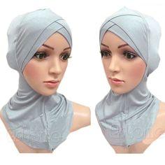 Damen Islamic Head Under Scarf Cap Bone Bonnet Hijab Wear Neck Cover-Schals w//