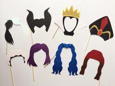 Descendientes de Disney inspiraron Photo Booth Props | Maléfica | Jafar | Cruella De Vil | La reina malvada | Mal | Evie | Jay | Carlos