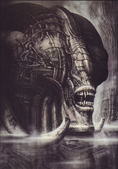 Looks slightly like a fly? Huge structure? H.R Giger