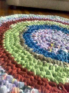 crocheted rag rug #tutorial