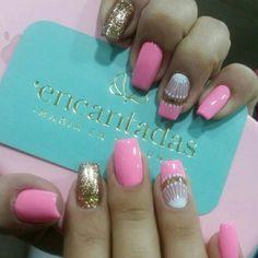 Cute Nail Art, Cute Nails, Hair And Nails, My Nails, Beauty Nails, Hair Beauty, The Art Of Nails, Square Acrylic Nails, Easter Nails