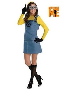 Adult Despciable Me Minion Costume   Cheap TV and Movie Halloween Costume for Womens