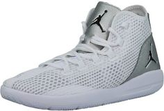 6b502153c83 Nike Men's Jordan Reveal White / Black Metallic Silver Infrared 23 Mid-Top  Mesh Basketball Shoe - 9.5M
