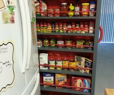 Empty space next to the fridge? Make a Roll-Out Pantry   Free plans from Instructables! This will be perfect for the space next to my stove!!
