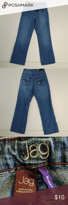 Size 6 Jag stretch jeans. Light washed, lightly worm,  30 inch inseam , nice jeans! Jag Jeans Jeans