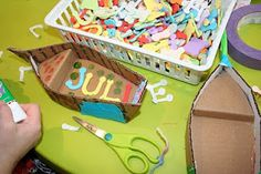 Pink and Green Mama: Birthday Party Highlights: Pirates and Mermaid Party Cardboard Boats
