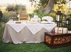 Love the table ....Tuscan Villa-inspired, Rustic-Luxe, Vineyard Wedding