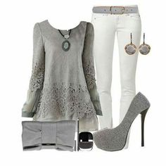 Dressing like a lady Casual Fall Outfits, Classy Outfits, Cool Outfits, Fashion Outfits, Womens Fashion, Fashion Trends, Fashion Ideas, Gray Outfits, Fashionable Outfits