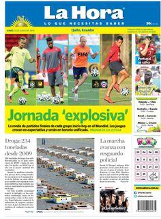 Jornada Explosiva, Droga: 234 toneladas desde 2009, La marcha avanza con resguardo policial, Portugal se salva, Dedicarán juego al 'Chucho'