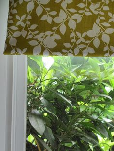Fabric-covered roller shades. This is even easier than those DIY roman shades.