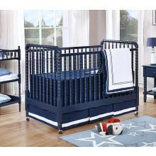 Shermag Jenny Lind 3in1 Convertible Crib  Navy Blue