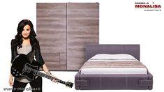 Mobila dormitor cu pat tapitat Rocker Design, Simple Lines