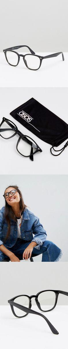 128f6846599 ASOS Square Lens Geeky Clear Lens Glasses Sheath Dress