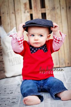 Boy Red Bow Tie Applique Shirt-24 months, toddler/Baby shower. $13.00, via Etsy.