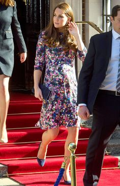 March 2, 2015 - On Monday Kate  (in a floral Erdem dress) returned to London's Goring Hotel, where she stayed the night before her wedding to Prince William in 2011, to celebrate its 105th anniversary.