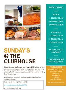Sunday Carvery Price List