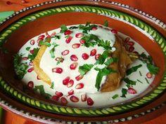 Chiles en Nogada - Prepared with Chicken Picadillo and a Batter. Que Rica Vida #quericavida