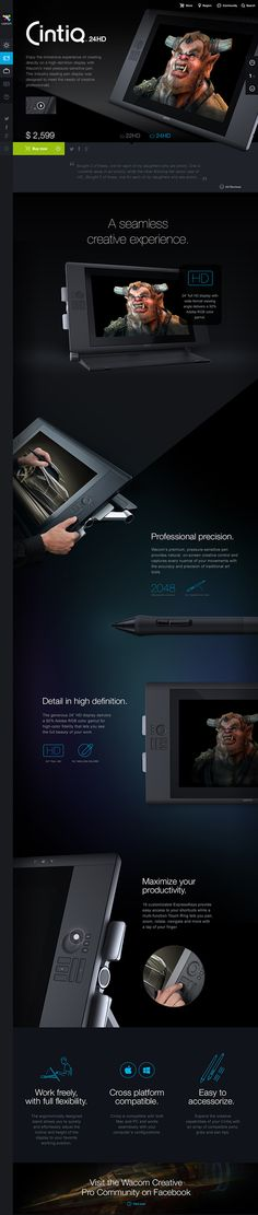 Together with the fantastic team at Fantasy Interactive I was responsible for the Art Direction & early UX concepts of the new Wacom.com relaunch in early 2013. This project lasted over more than a year and was one of my favorite projects I ever worked on…